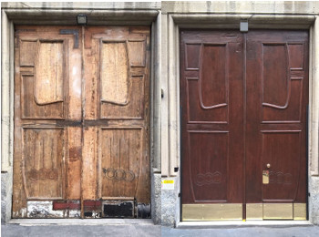 restauro mobili legno milano portone