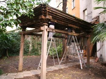 restauro mobili legno milano gazebo
