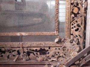 restauro specchiera dorata