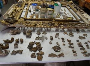 restauro specchiera-dorata e intagliata